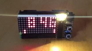 Dot-matrix Msp430 Bedside Table Alarm Clock