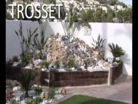 construccin de fuente cascada jardin landscape