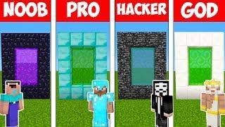 Minecraft - NOOB vs PRO vs HACKER vs GOD : SUPER PORTAL in Minecraft ! AVM SHORTS Animation