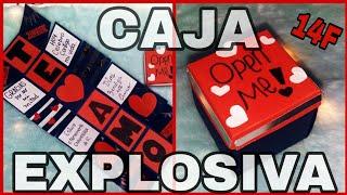 Como hacer Caja Explosiva ♡ Regalos para mi Novio / Novia ♡ caja expandible
