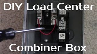 solar panel systems for beginners pt 3 how to build a load center