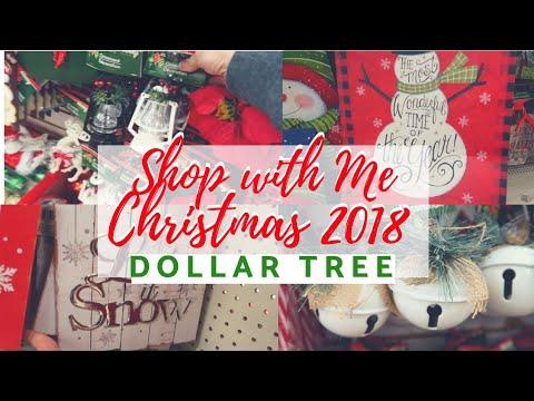 DOLLAR TREE || SHOP WITH ME || CHRISTMAS 2018