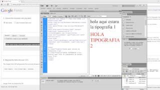 WEBFONTS HTML CSS
