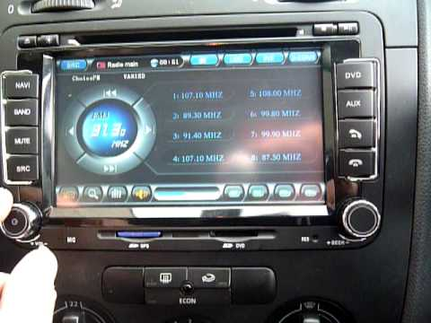 Vw Replacement Navi Dvd Gps Multi Media System Youtube