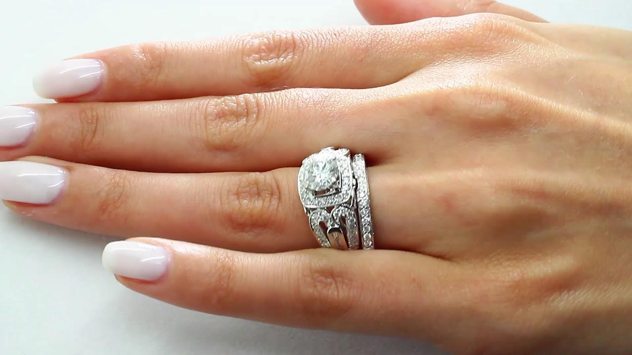2 35 Ct Si1 F Round Diamond Engagement Wedding Ring Bridal Set 14k