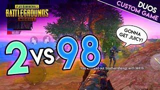 POWERBANG & JUICY vs. 98 Players - PUBG Mobile CUSTOM Duos!