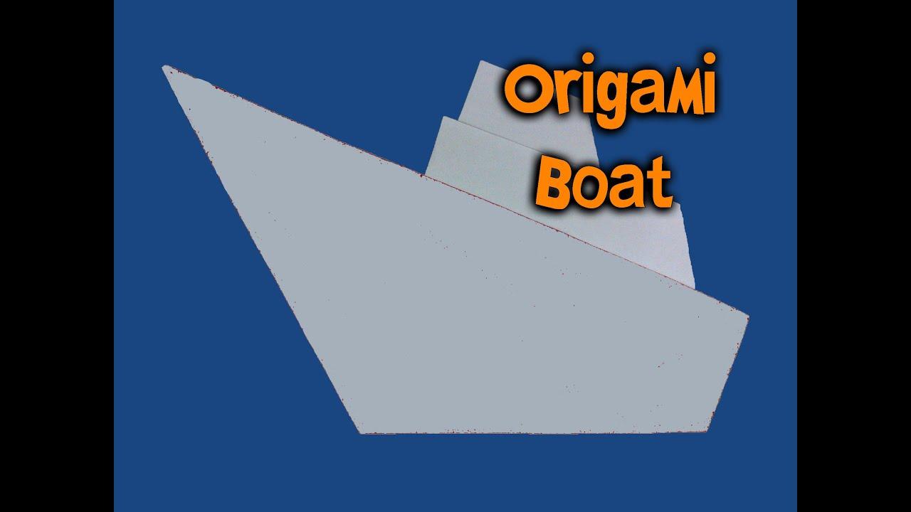origami navio how to make origami boat youtube