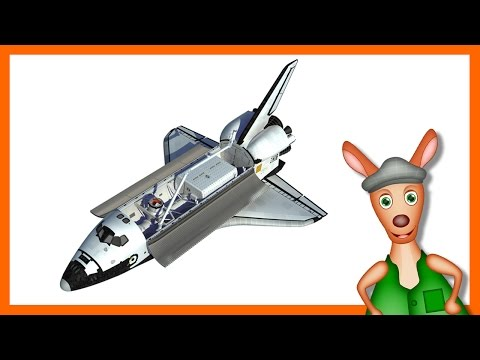 NASA SPACESHIP/ ROCKET: Space shuttle videos for kids| children| toddlers. Kindergarten learning.