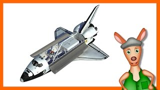 NASA SPACESHIP/ ROCKET: Space shuttle videos for kids| children| toddlers. Kindergarten learning.
