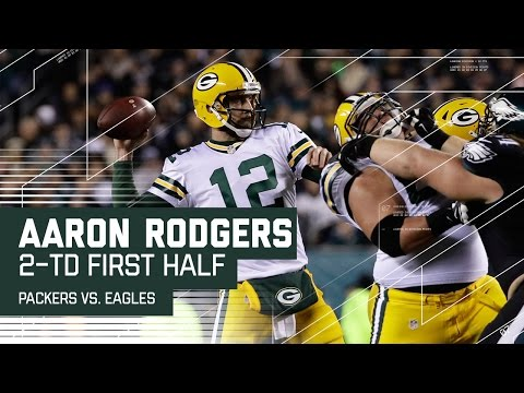 Aaron Rodgers & Davante Adams Hook Up for 2 First Half TDs | Packers vs. Eagles | NFL