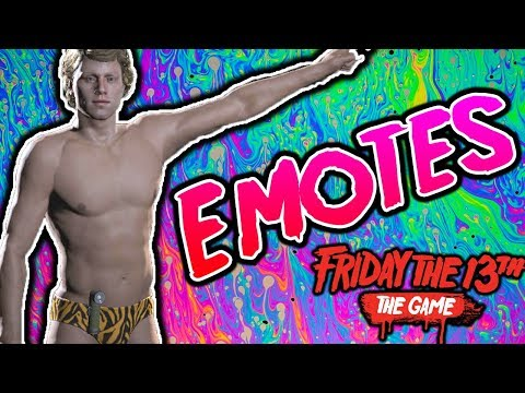 All Emotes in Friday the 13th Game ( Springbreak 1984 dlc pack)
