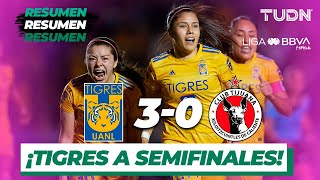 Resumen y Goles | Tigres 3 - 0 Tijuana | Liga MX Femenil - Cuartos de Final (Vuelta) - AP 19 | TUDN