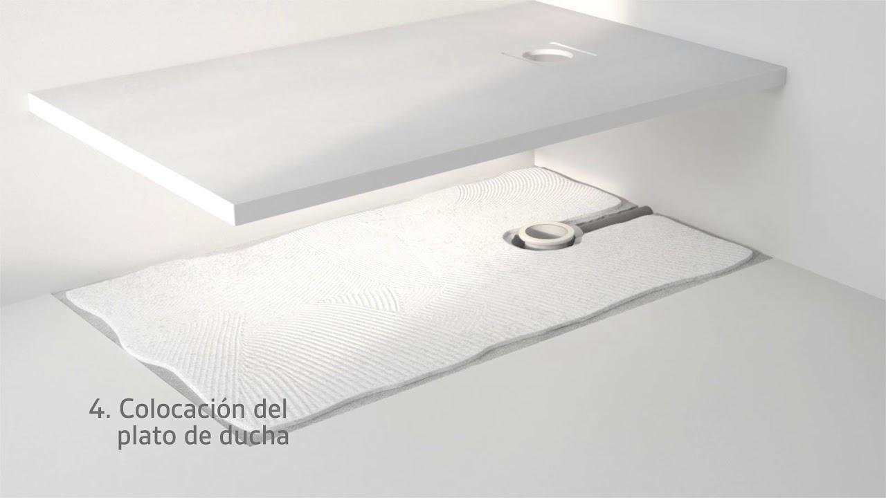 Video instalaci n plato de ducha slate de nuovvo youtube for Platos de ducha ceramicos rectangulares