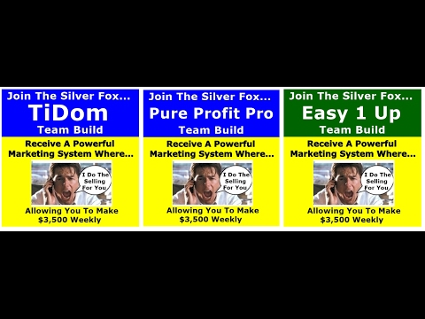 "Tidom Marketing Special Three Big Ticket Programs ""For Price Of One""  Limited Time Offer"