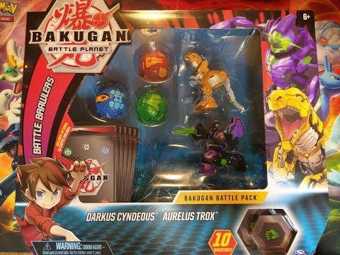 Bakugan Battle Planet Wave 3 Aurelus Trox Ultra & Darkus Cyndeous Ultra Battle Pack Unboxing!