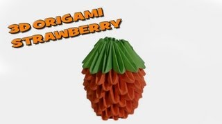 3d Origami- Strawberry Tutorial Hd (origami World) ᴴᴰ