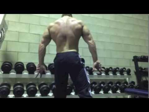 Zac Dean Teenage bodybuilder - training some back
