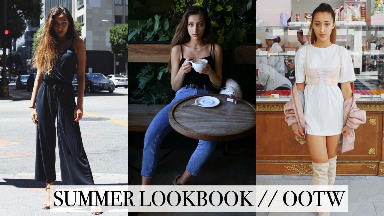 SUMMER LOOKBOOK / OOTW | Hailey Sani - YouTube