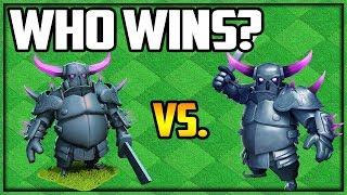 The FINAL SHOWDOWN! Clash of Clans PEKKA vs. PEKKA