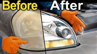 How To Restore Headlights PERMANENTLY ( Better Than a BRAND NEW Headlight )