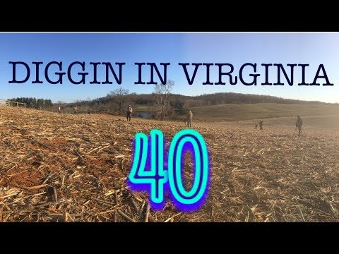 Diggin In Virginia 40- Metal detecting with PlugMaster Ford, Diggin with Seven, and more