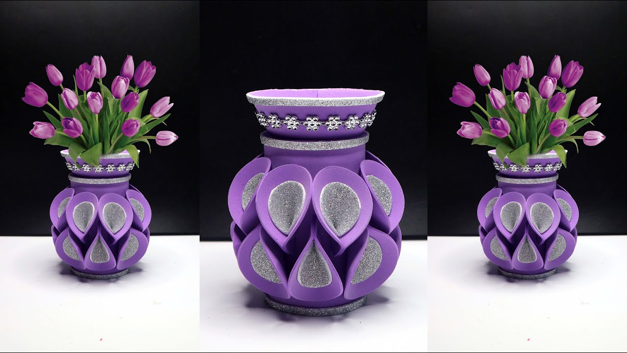 Ide Kreatif Vas Bunga Dari Botol Plastik Bekas Air Mineral Youtube
