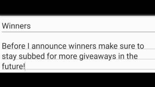 ZOMBIE CHRONICLES GIVEAWAY WINNERS!!!!!!!!!!!!