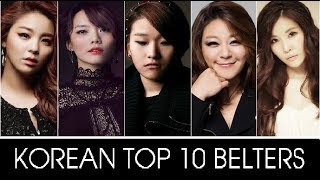 Korean Top 10 Belters (part I) | 한국 톱 10 높� 노트...