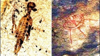 Alien Humanoid Discovered In Indian Cave Painting