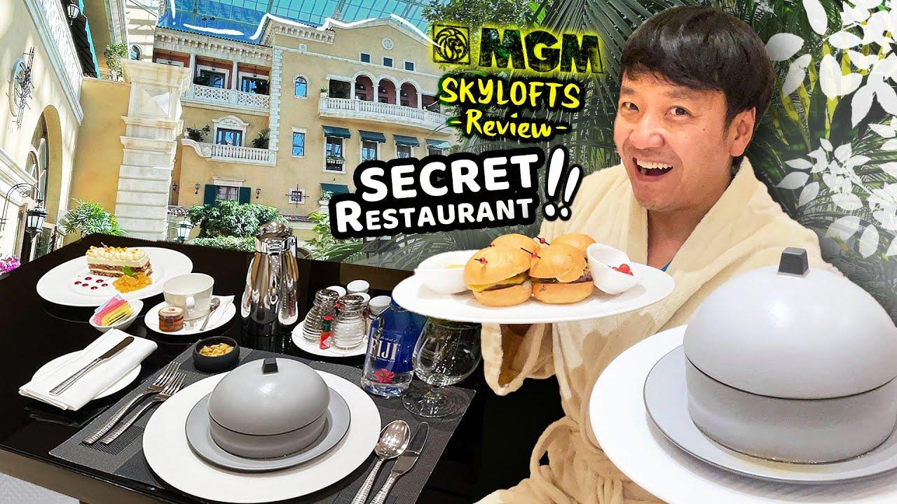 BEST HOTEL SUITES in Las Vegas?! MGM Grand SKY LOFTS Review! ULTIMATE SECRET RESTAURANT 😲