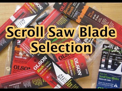 Scroll Saw Blade Selection