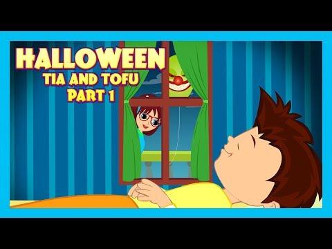 HALLOWEEN STORY (Part 01) - Tia and Tofu Stories || Tia and Tofu Celebrating Halloween