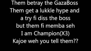 vybz kartel ft tommy lee betray the gaza boss official lyrics sept 2012