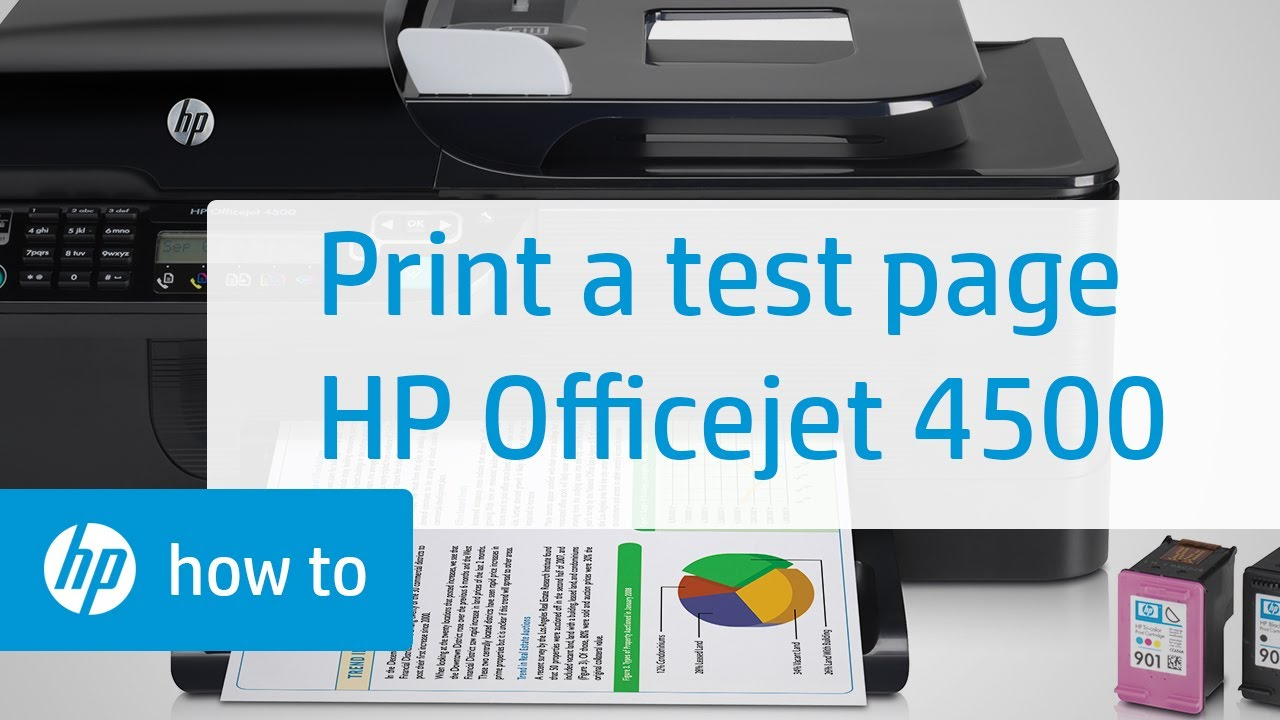 Printing A Test Page Hp Officejet 4500 Wireless All In
