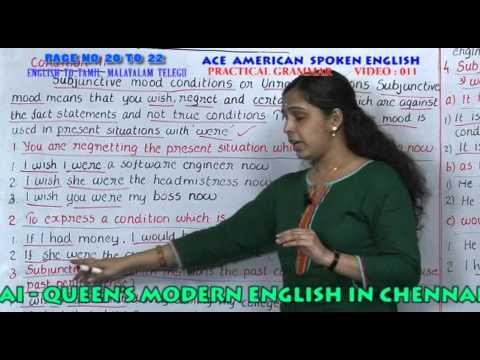 SPOKEN ENGLISH IN TAMIL,MALAYALAM,TELUGU IN CHENNAI - PRACTICAL GRAMMAR  PAGE 20 TO 22 VIDEO 11