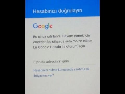 """Google """"Hesabınızı Doğrulayın Bu Cihaz Sıfırlandı"""" Çözümü"""