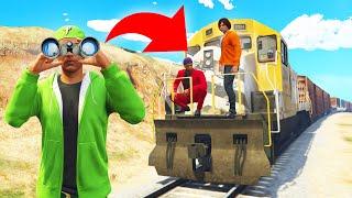 Скачать Playing HIDE And SEEK On A TRAIN GTA 5 Funny Moments