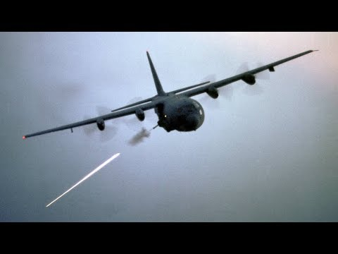 'Angel of Death' AC-130 Gunship in Action / Firing All Its Cannons - Live Fire Range