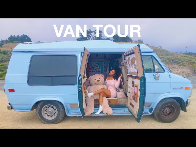 VAN TOUR | SOLO FEMALE TRAVELER lives VANLIFE with PET SNAKE!