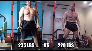 Jason Blaha One Year Later - 235 Lbs vs 220 Lbs Body Weight!