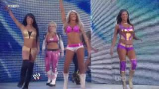 (720pHD): WWE Raw 06.13.11: Team Kelly Kelly vs Team Bella Twins