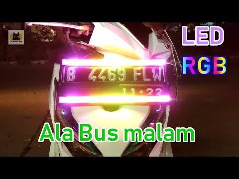 Review LED RGB Motor HDI 28cm Ala Bus Malam