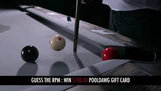 HOW FAST is the Cue Ball spinning (in RPM