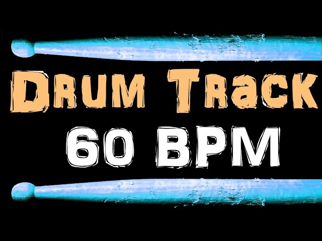 Slow Blues Drum Beat 60 BPM Bass Guitar Backing Drum Track