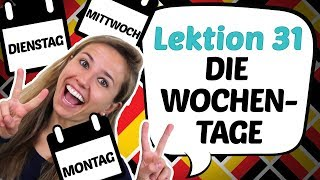 GERMAN LESSON 31: Learn the DAYS OF THE WEEK in German