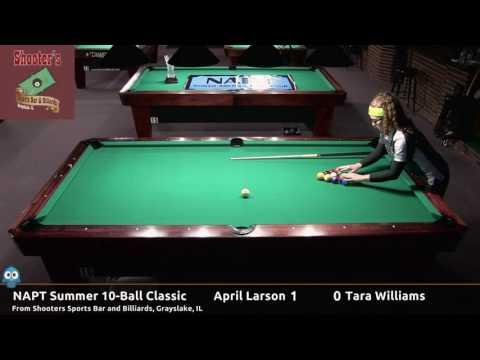 April Larson vs Tara Williams (Finals) - NAPT 2016 Summer 10-Ball Classic