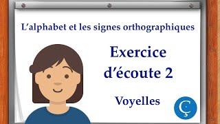 L'alphabet: exercice d'écoute 2