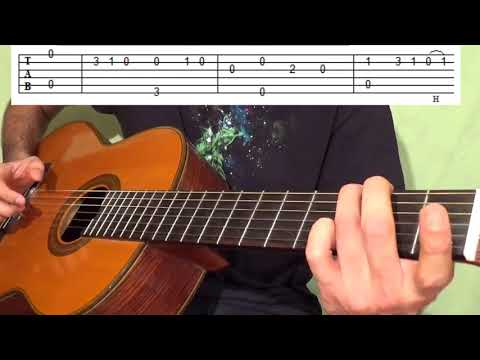 Easy Fingerstyle Guitar Lesson For Beginners - Bard Song Intro