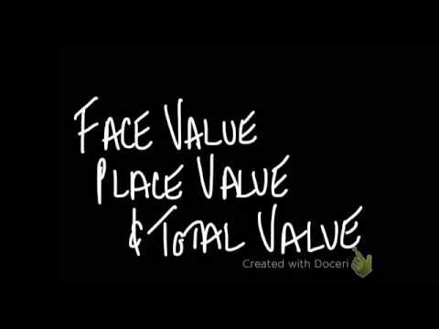 Face Value, Place Value,  & Total Value