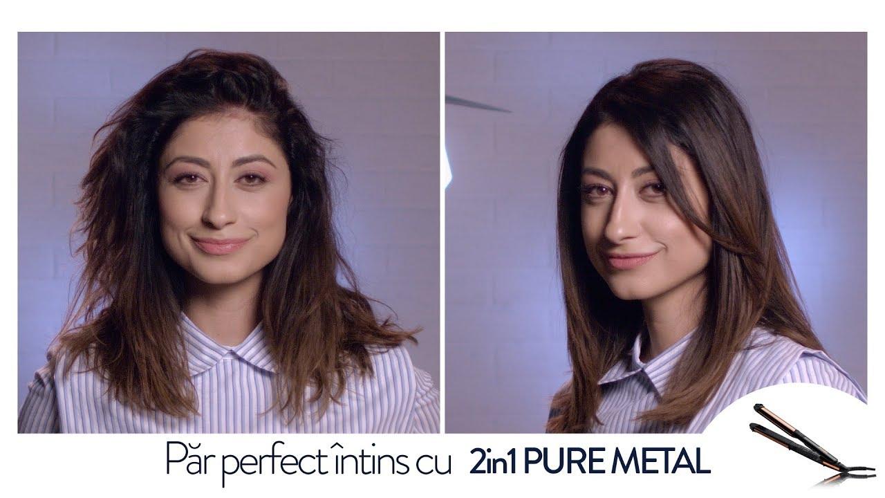 Cum Sa Iti Indrepti Parul Cu Placa De Par 2 In 1 Pure Metal